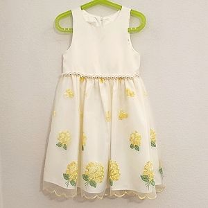 AMERICAN PRINCESS•Yellow flowers•pearlaccents•sz.6